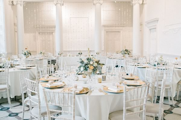 Source The Style A Peach Gold And White Marble Reception Theme