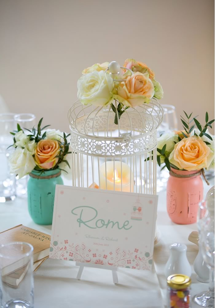 Fall in love with this coral and mint wedding, packed full of pretty, feminine style! The colour scheme influences all details, from decor to the cake...