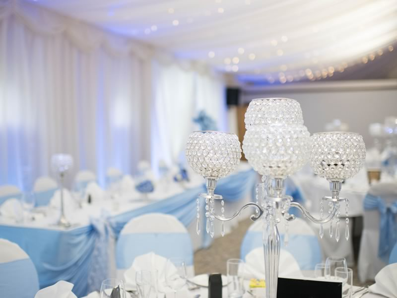 For a subtle and sophisticated take on this wintery theme, check out all the details from Katie and Rick's baby blue and silver real wedding!