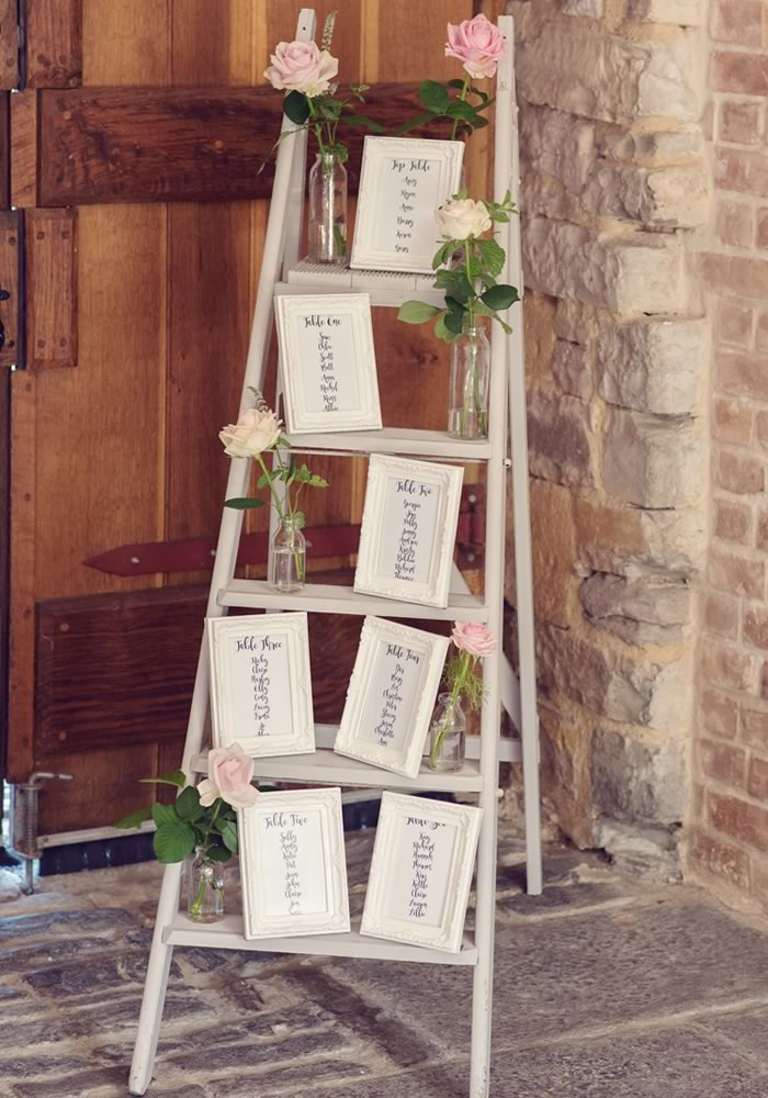 ladder table seating plan Barn Wedding Decor and how to Style It