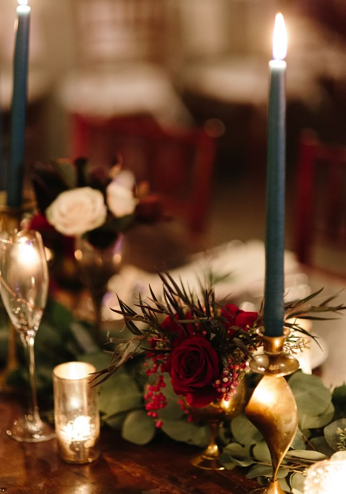 - candlesticks place setting - Barn Wedding Decor and how to Style It