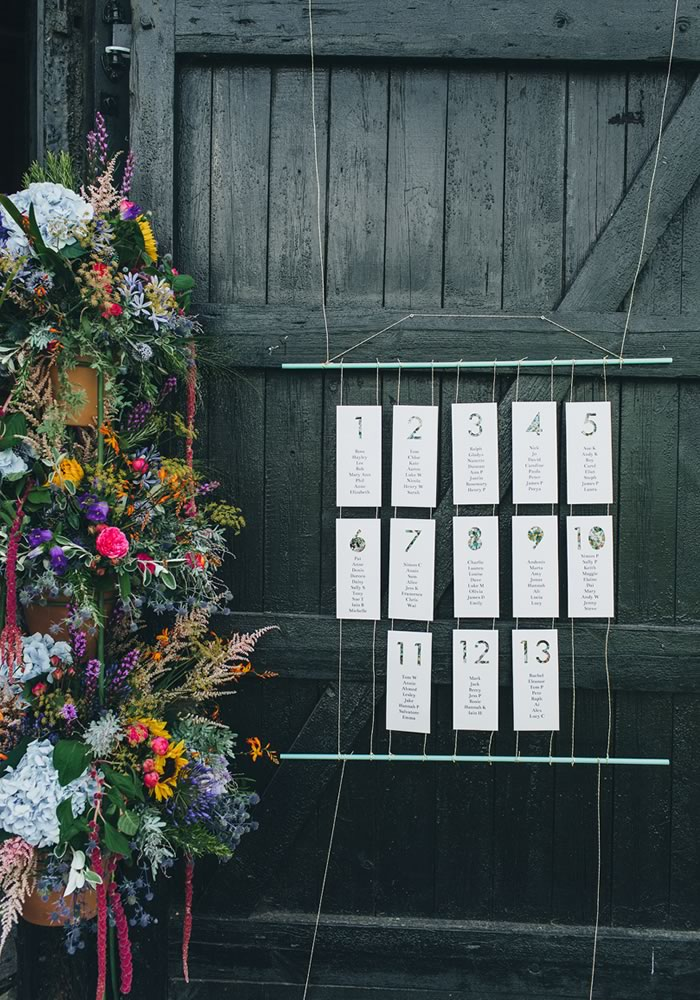 table plan - Barn Wedding Decor and how to Style It