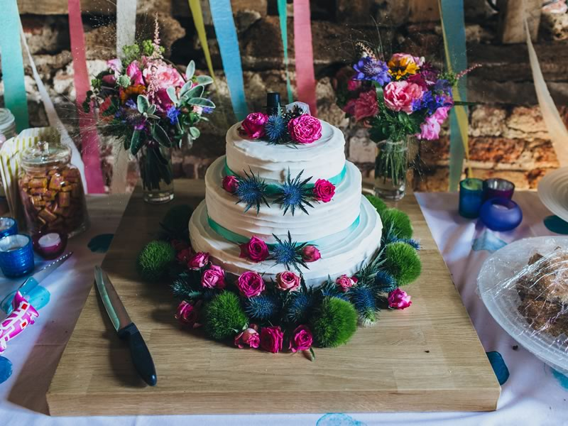 cake display- Barn Wedding Decor and how to Style It