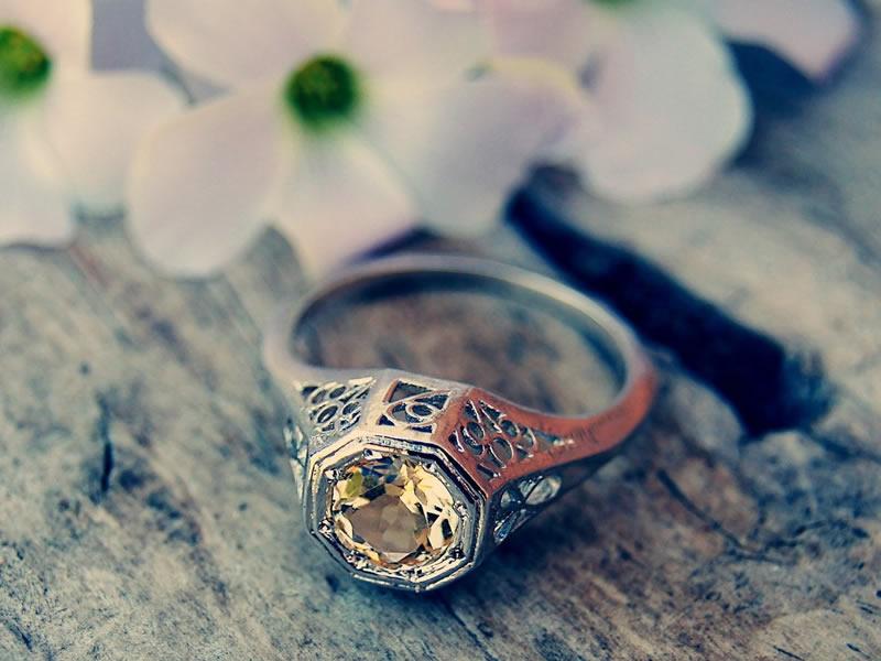 art deco engaement rings
