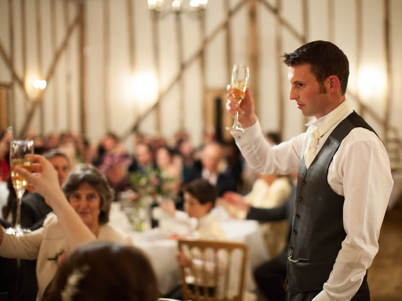 If you or one of your wedding party don't want to give a speech, there are options! From filming it, writing it down or simply raising a toast...