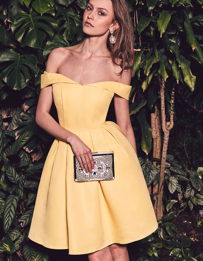 The spring wedding guest in yellow