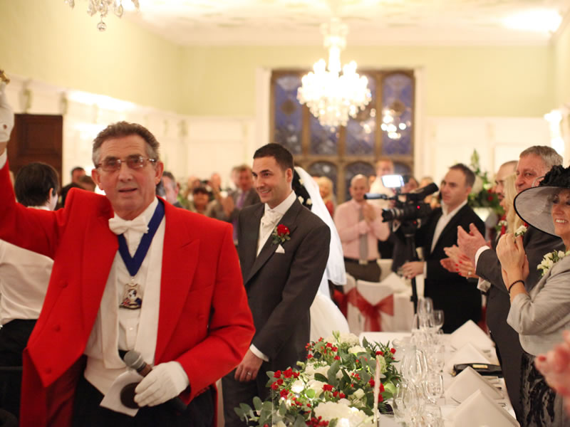 A Professional Toastmaster will not only liaise with every supplier, the wedding venue and staff but take care of every detail as requested on the day.