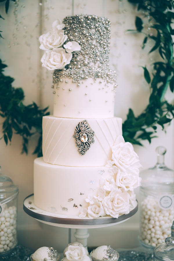 edibleessencecakeart.com: Decadently and generously jewel encrusted. This is the Jenny Packham cake equivalent...