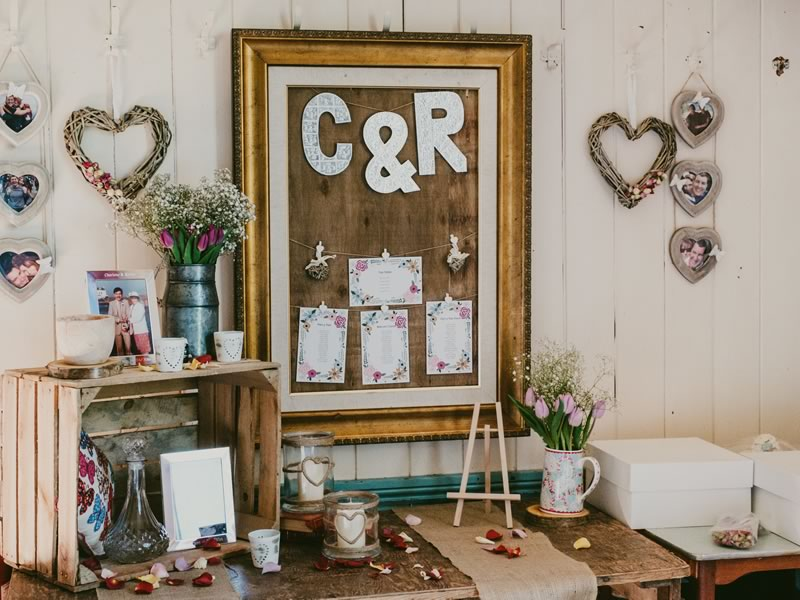 Charlene and Richie married where they shared their first kiss on the beach, celebrating a rustic Welsh wedding with personal touches