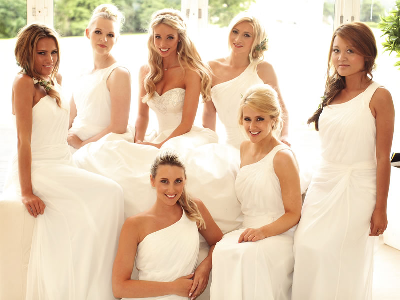 3 reasons your bridesmaids can wear white wedding ideas magazine