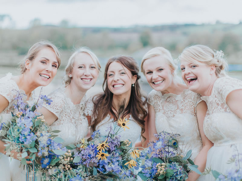 70c19ca258a Prepare to change your mind about bridesmaids wearing white - these  bridesmaids nailed it