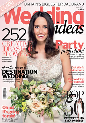 We're excited to announce a magical new issue for May with tips, ideas and gorgeous gown galore! Read up on the perfect destination locations to wed!