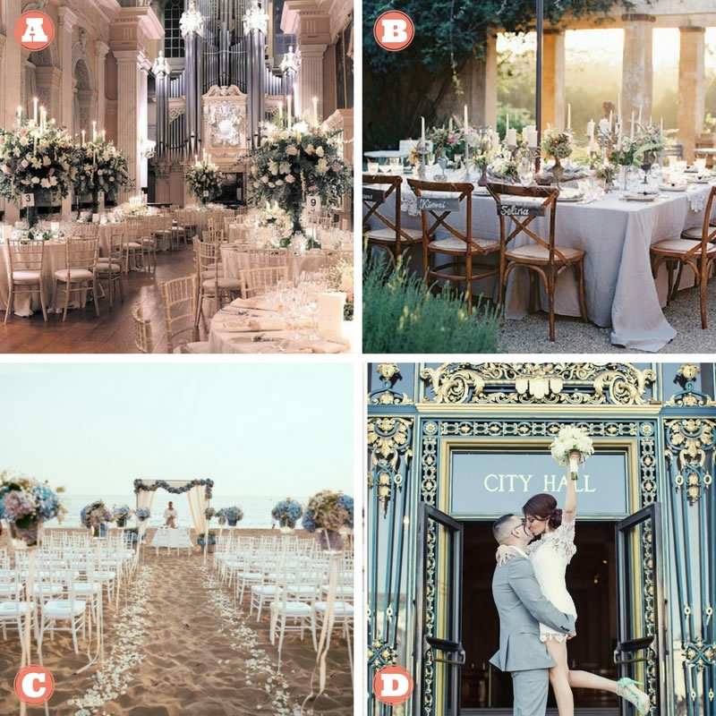 The Wedding Destination Quiz What Does Your Style Say About Your