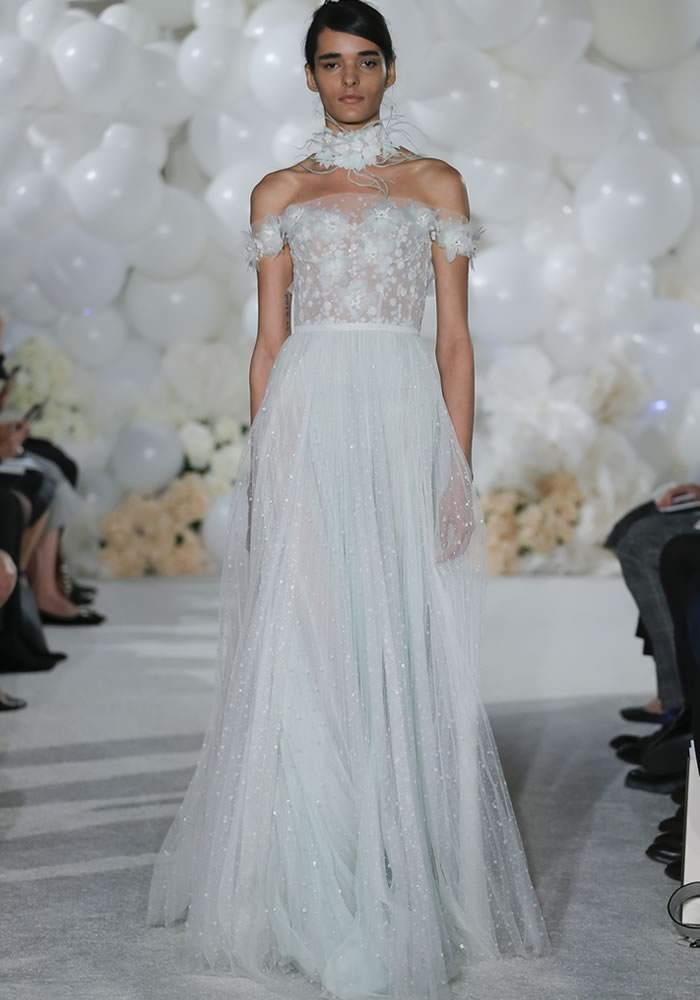 The beauty is in the detail of these stunning detailed dresses, showcased at New York Bridal Week. Embellished, beaded, lace... which would you wear?