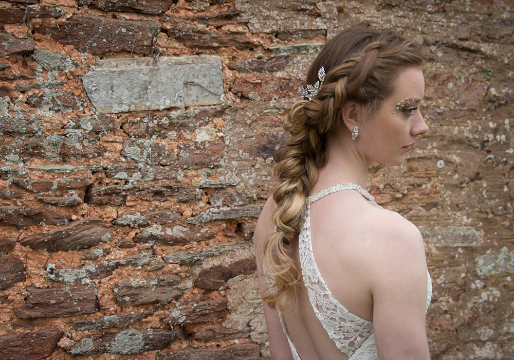 The ANSWER to beautiful bridal boho braids by Hair Stylist Sarah Eccles-Markey. Incorporate twists and braids to long locks for a brilliantly boho look!
