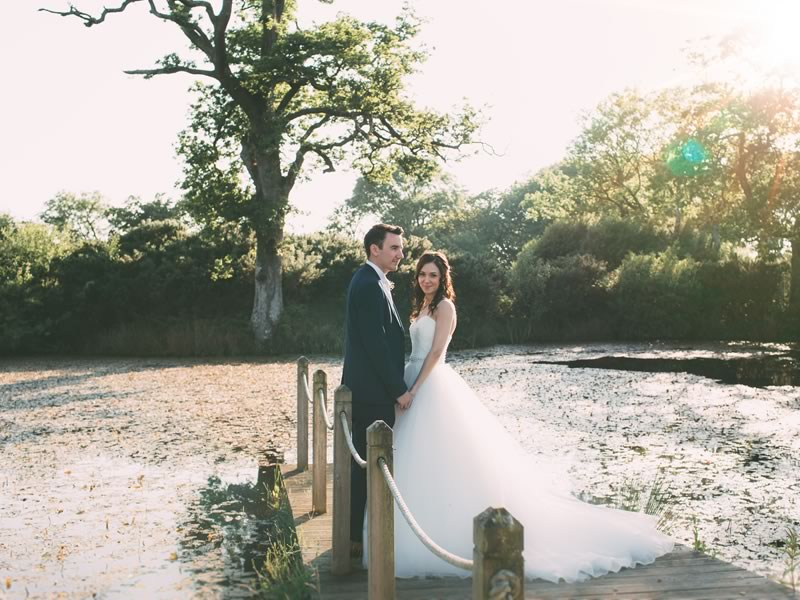 Timeless choices in pink and ivory with rustic touches make for a very pretty wedding with a vibe that is both traditional and laid-back