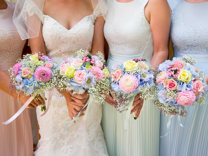 This bride thrived sourcing chic and pastel themed things to fit with their vintage style reception filled with delicate lace, flowers and pretty signs!