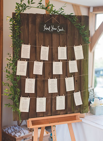 A beautiful renovated barn venue required little decoration for this couple's rustic vibe reception!