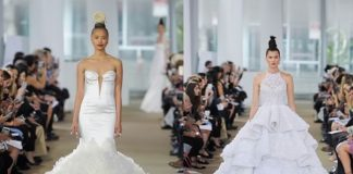 Ines di Santo wowed on the runway at New York Bridal Week 2017 with statement skirts that are showstopping at every turn. See them here...