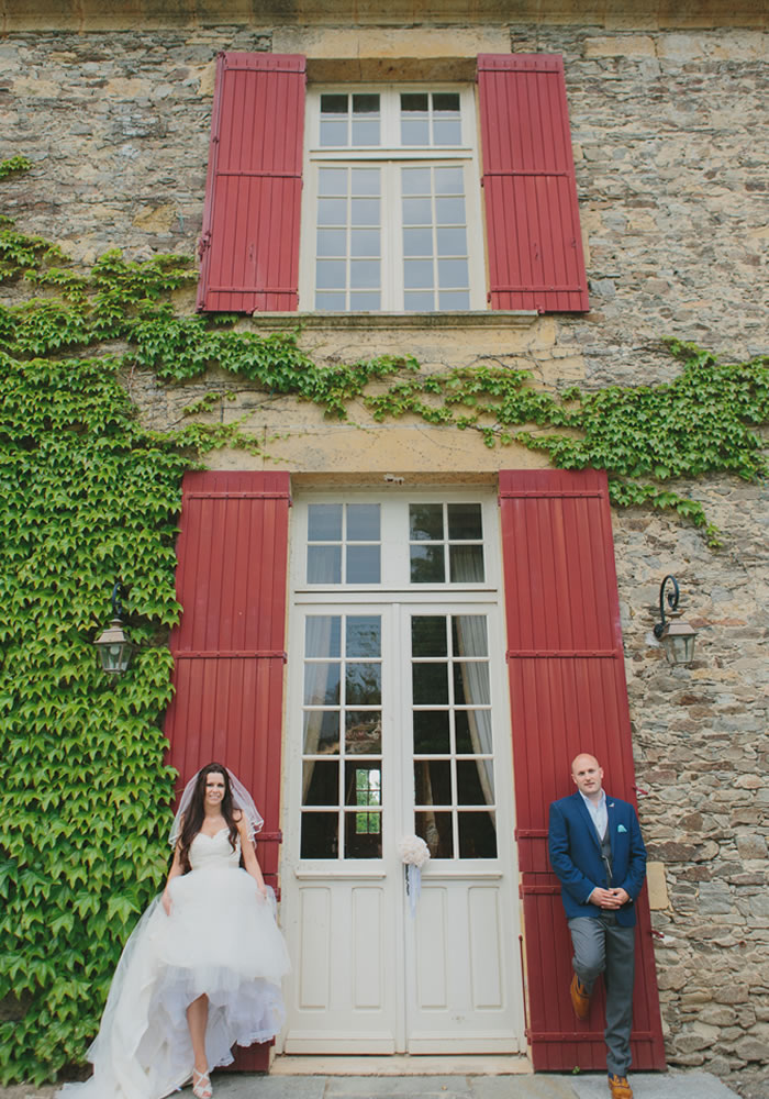 This wedding planner always knew she wanted Tiffany blue bridesmaids dresses to be photographed outdoors of their beautiful French Chateau venue!