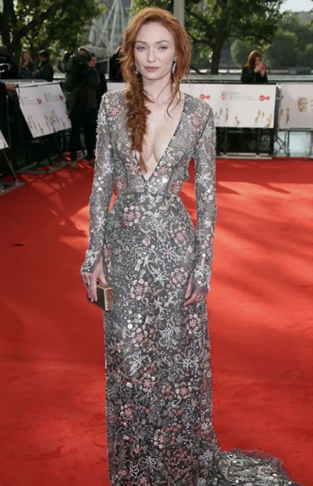 Eleanor Anderson rocked the boho fishtail plait paired with a sheer deep v and embellished Jenny Packham look-a-like gown!