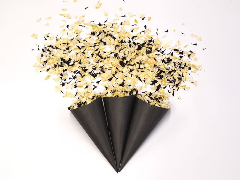 Shropshire Petals brand NEW confetti colours featuring Rose Gold and other metallic shades will at last tie your floral in with your theme!