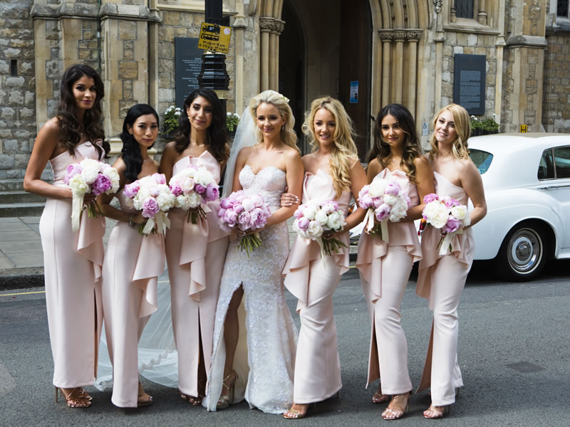 Two Galia Lahav wedding dresses, 6 bridesmaids and a 4 tier wedding cake was just the beginning of this London brides' Catholic church Ceremony in Mayfair