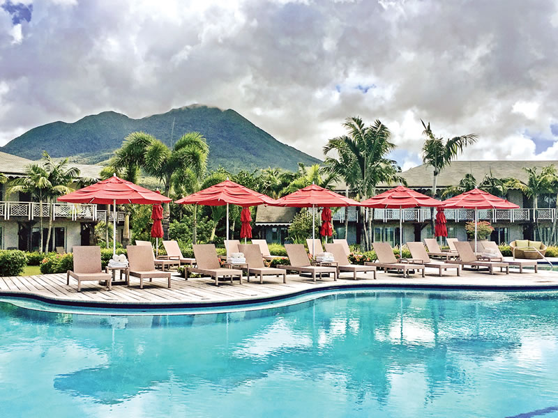 It really could be you dipping your toes in the twinkling Caribbean ocean on a stunning seven-night honeymoon in Nevis...