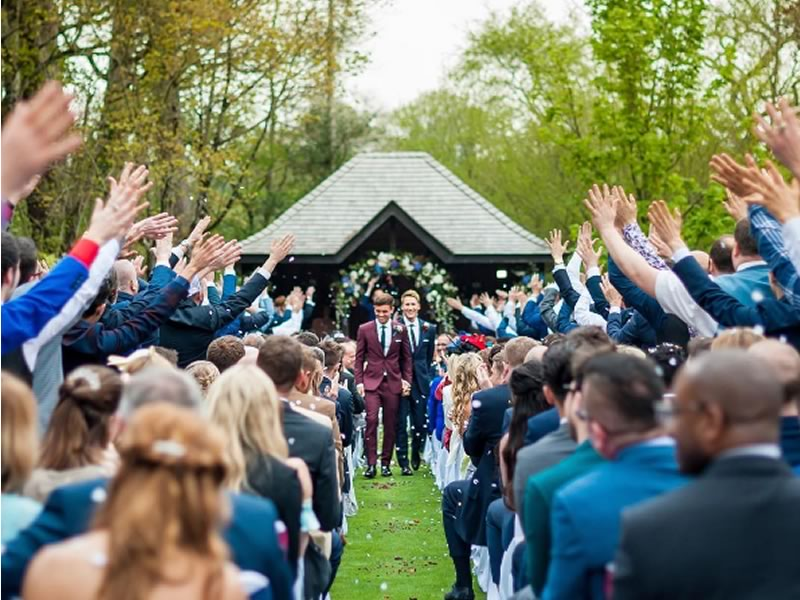 Congratulations to Tom Daley and Dustin Lance Black, who married at Bovey Castle, Devon. See photos from their wedding day plus ultra romantic details here