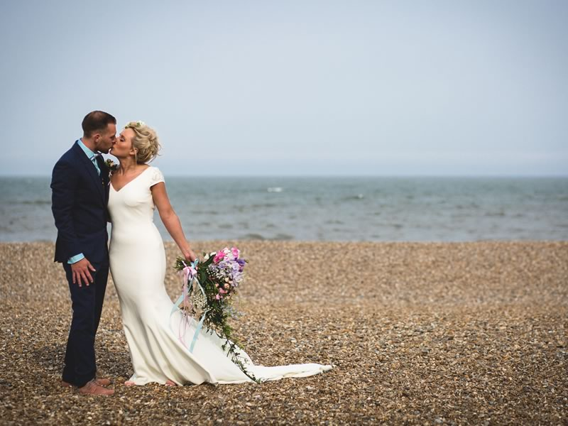 Looking for beach wedding ideas? Whether it'll be in the UK or abroad, you'll love Hannah and Matthew's quirky, coastal details!