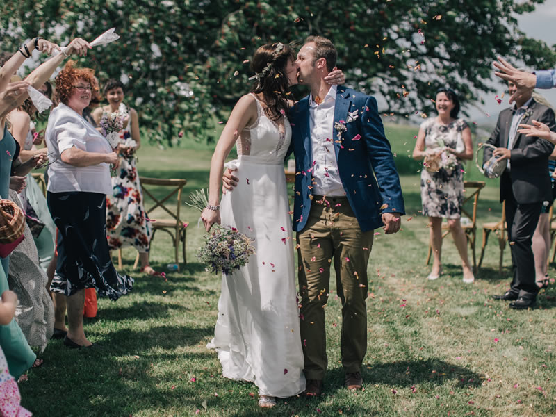 This couple's rustic farm wedding in the Czech Republic countryside created a beautifully relaxed setting for their small guest list of family and friends!