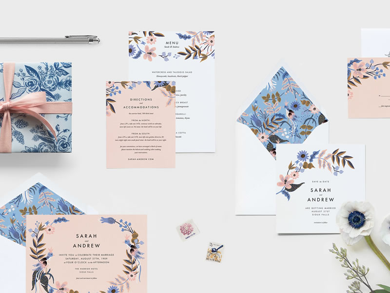 How To Have A Tech Savvy Wedding On A Budget: Paperless Post – Rifle Paper Co