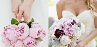Fall in love with pink peonies and find all the inspiration you need to have them at your wedding - from pink peony bouquets to table centres and buttonhole