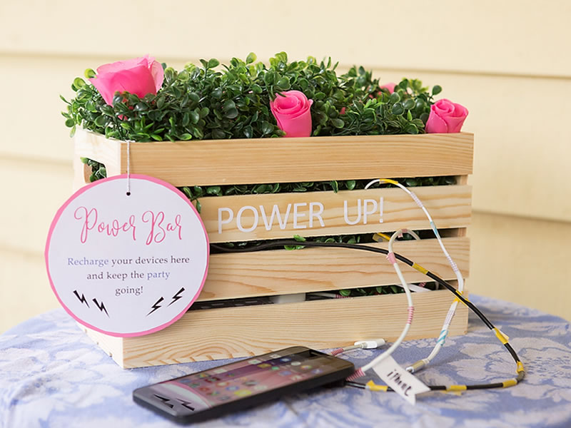 How To Have A Tech Savvy Wedding On A Budget: Charging station - Oriental Trading
