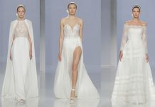 Fashion forward silhouettes, glamorous plunge necklines and exquisite lace wedding dresses gain an ethereal quality in the new Rosa Clara 2018 collection