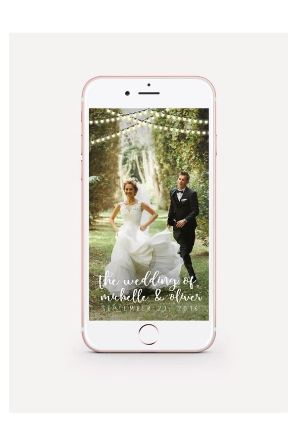 How To Have A Tech Savvy Wedding On A Budget: Snapchat filter – Cleyton Design Co on Etsy