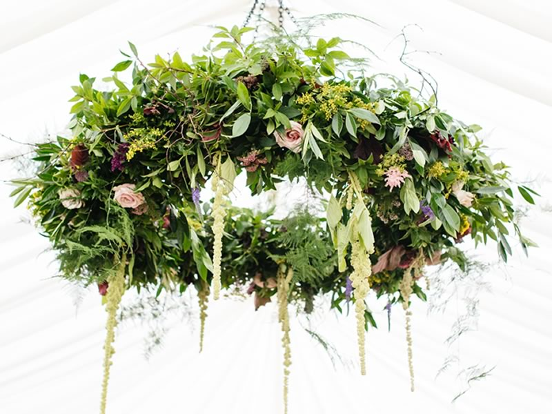 One of the biggest 2017 reception decor trends, prepare to be blown away by these romantic, whimsical and breathtaking suspended flower designs!