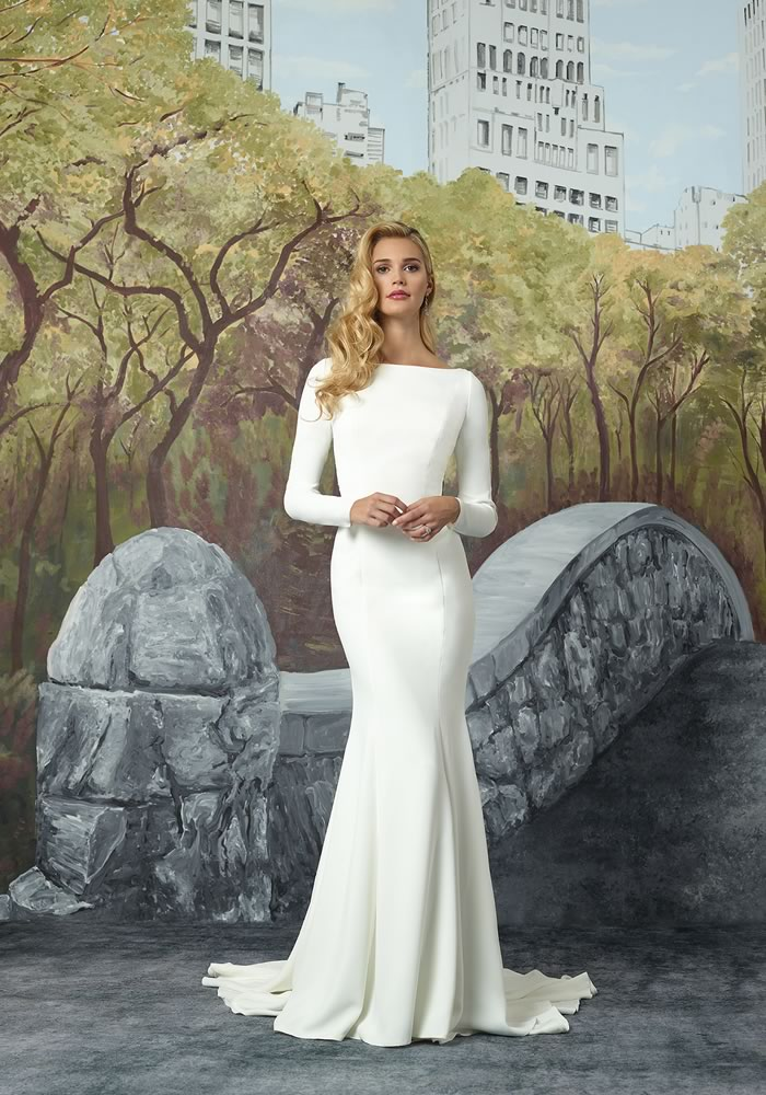 47698a6378db Justin Alexander Modern Edge Collection  Minimalist Wedding Dresses ...
