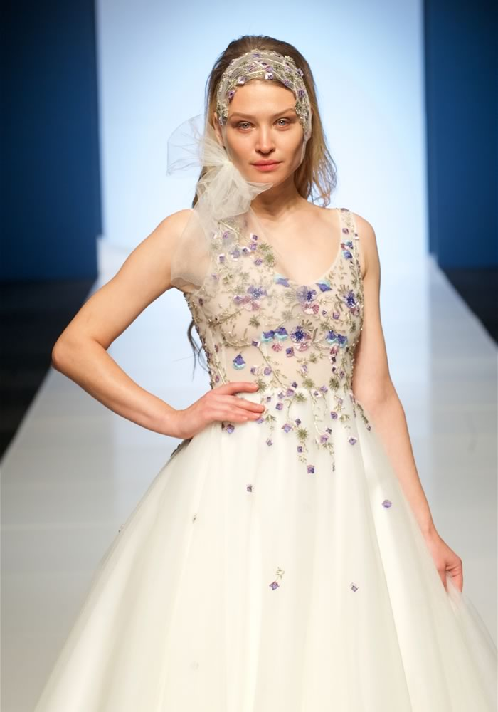 This year we have seen an eye-popping array of floral wedding fashion Alan Hannah 'enchanted garden'