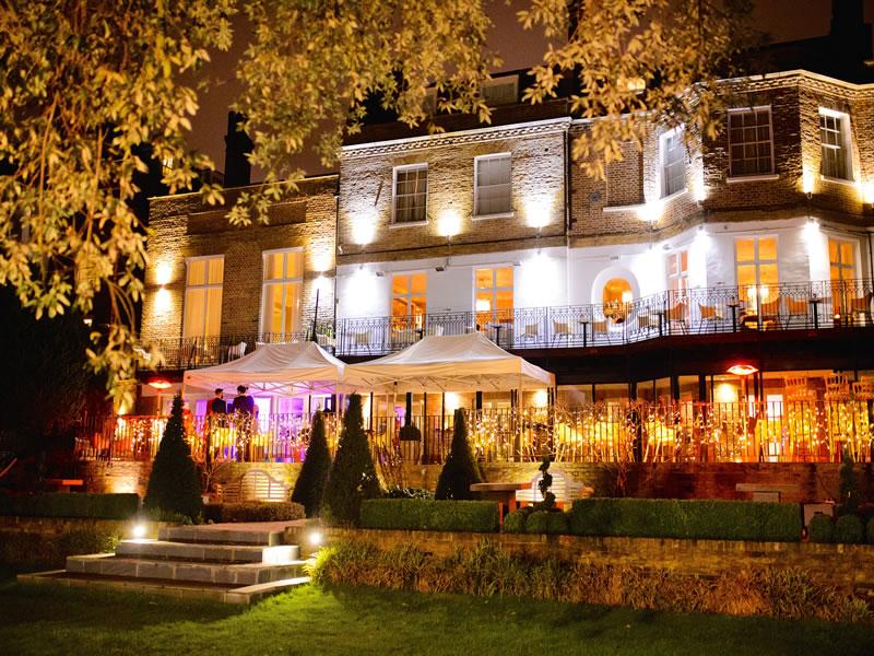spotlight lit hotel Intimate Wedding Venues for Small Weddings