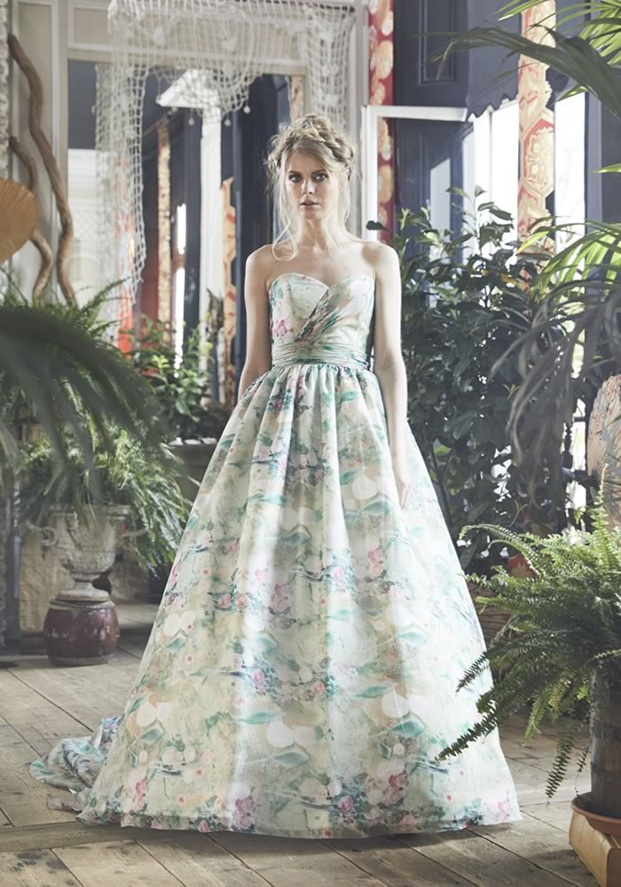 This year we have seen an eye-popping array of floral wedding fashion Charlotte balbier 'Jayde'