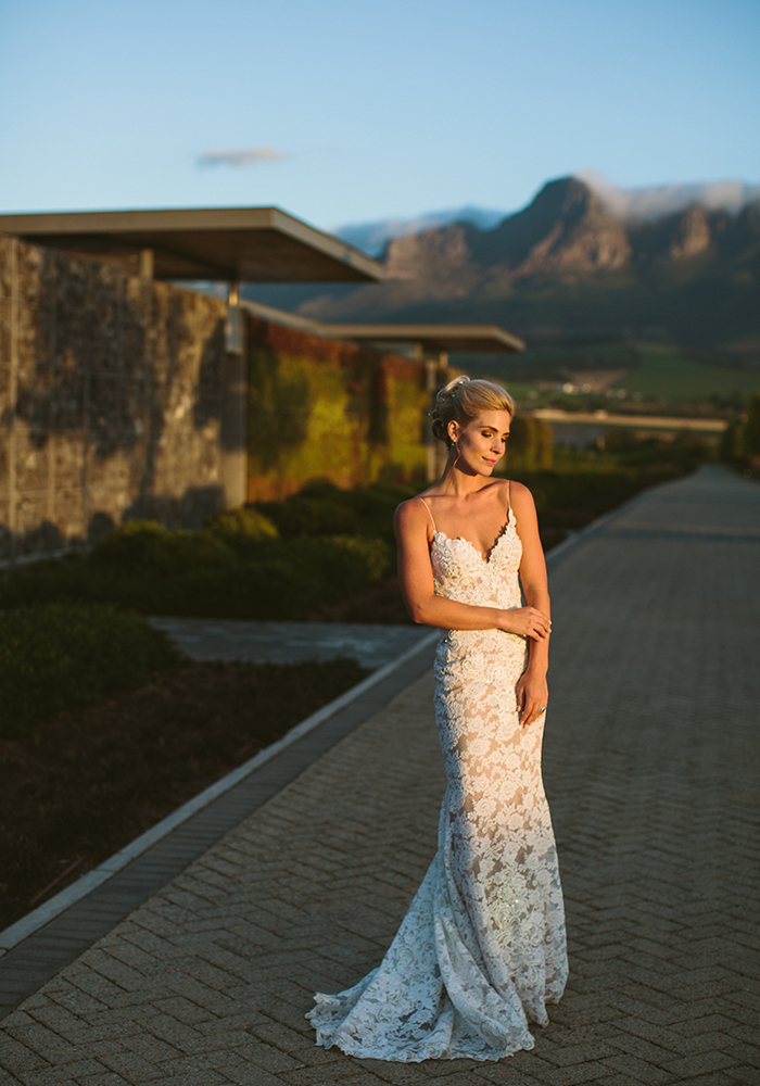 Recognise this bride? Colette has featured on the cover of Wedding Ideas before, but this time we share her big day, wearing a Kobus Dippenaar wedding dress