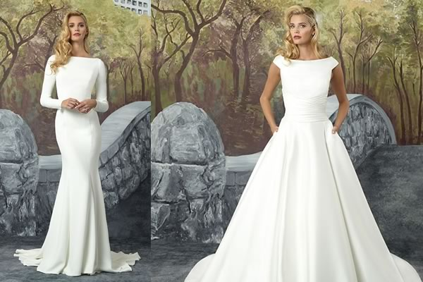 611e27c7ee51 Justin Alexander Modern Edge Collection: Minimalist Wedding Dresses For The  Modern Bride | Wedding Ideas magazine