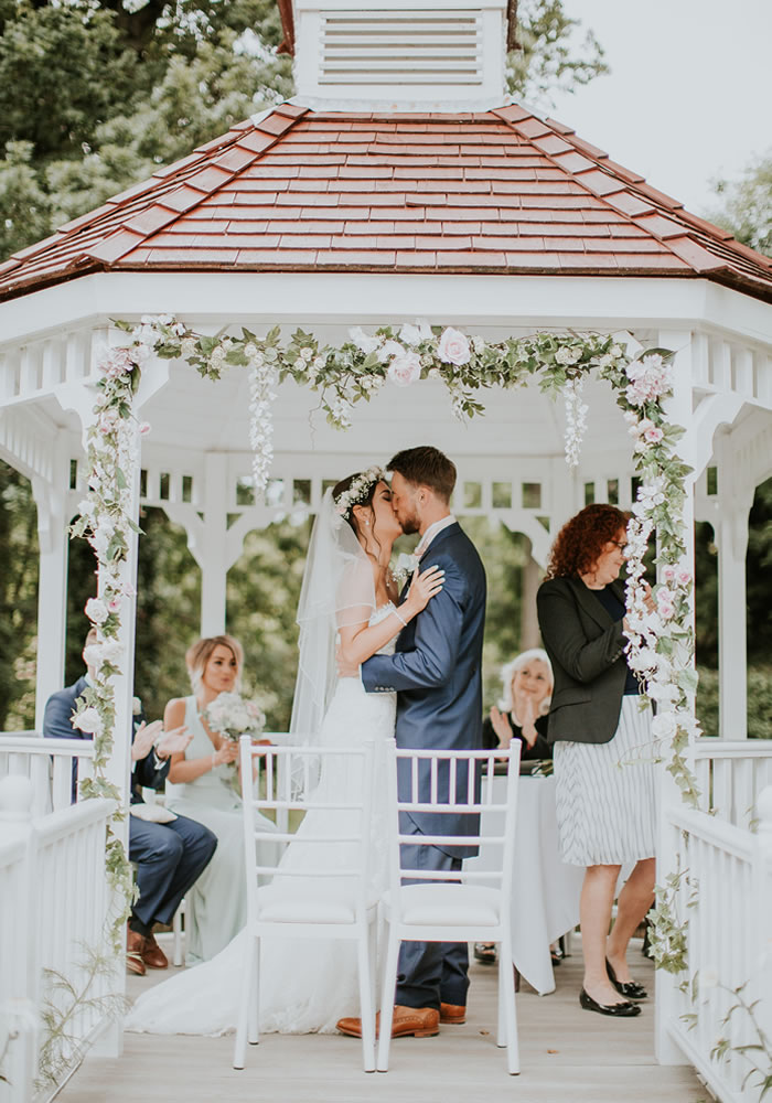 While the thought of an audience for your wedding day kiss may add to your nerves, follow these 5 top tips on kissing etiquette for this pivotal moment!