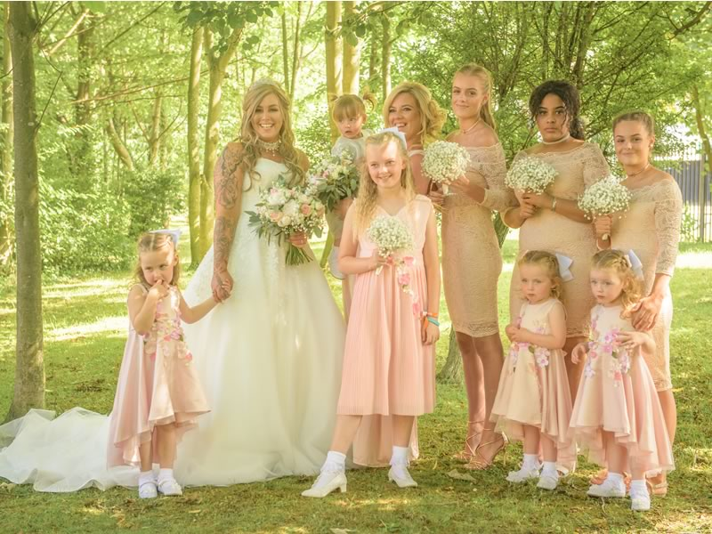 "This love story might not be conventional, but it is love in its highest form. Sophie and Marcus said ""I do"" with a beautiful blush pink vintage wedding"