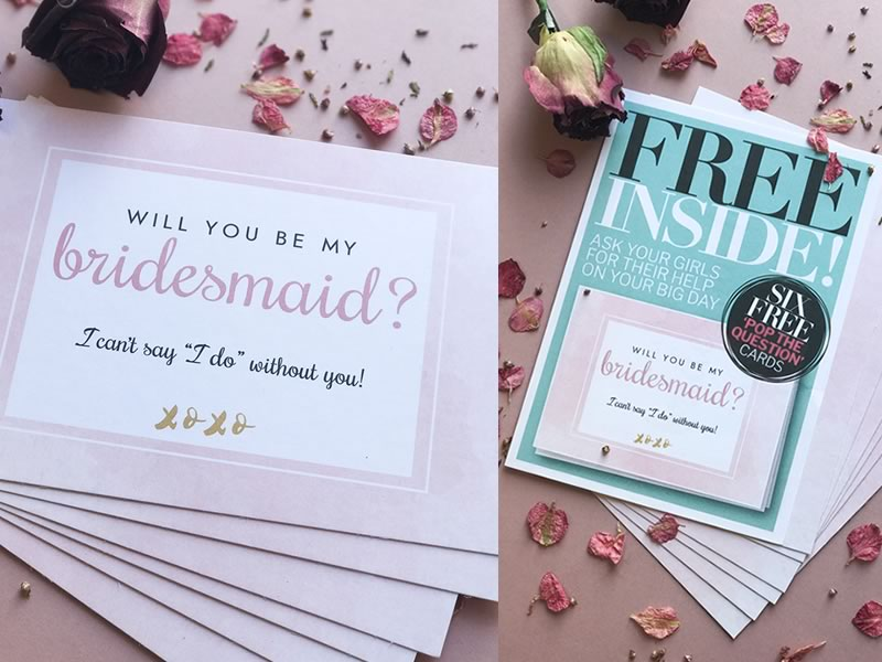 FREE INSIDE! Six 'Pop the question' Bridesmaids Cards