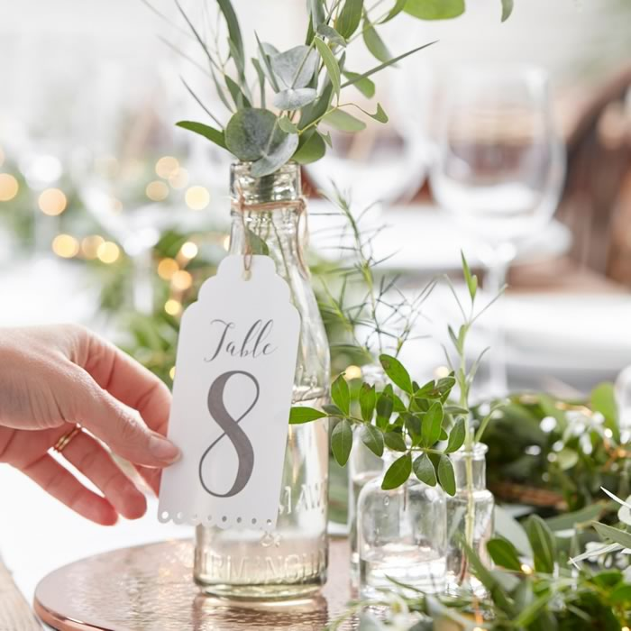Table number decor ideas