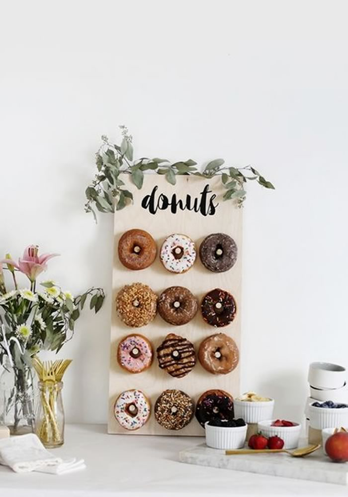 Wedding donut wall