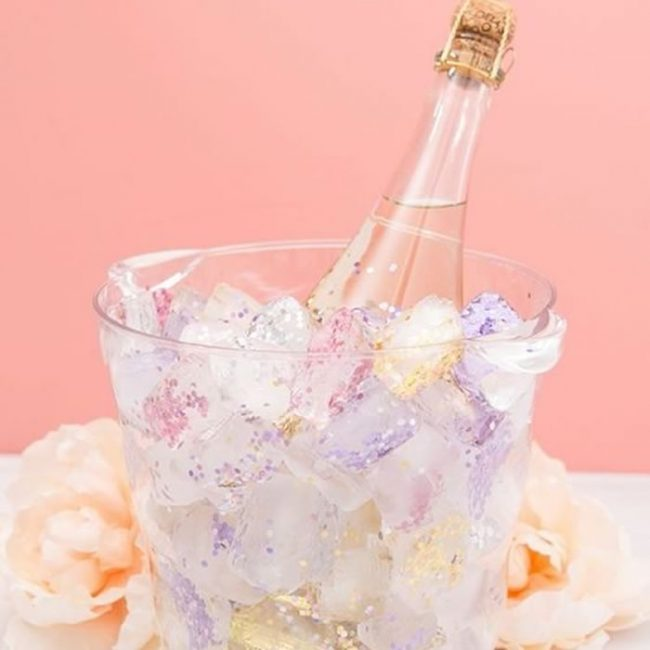 Glitter ice cubes - 31 Budget Hen Party Games and Ideas