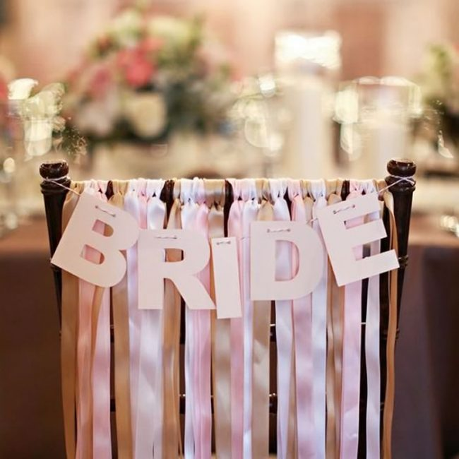 Homemade bride's chair decoration - 31 Budget Hen Party Games and Ideas